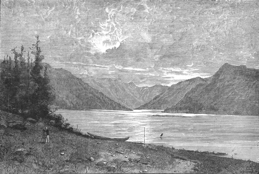 Associate Product BRITISH COLUMBIA. mouth of the river Skeena, antique print, 1881