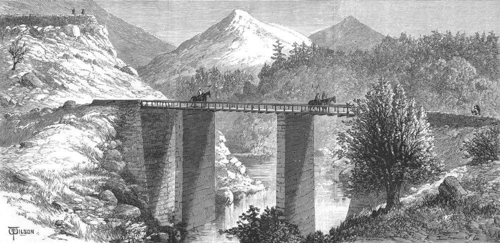 Associate Product INDIA. Military bridge over the Anumbar River, Thull Chotiali, Baluchistan, 1886