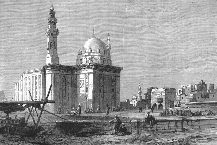 Associate Product EGYPT. Mosque of Sultan Hassan, Cairo, antique print, 1881