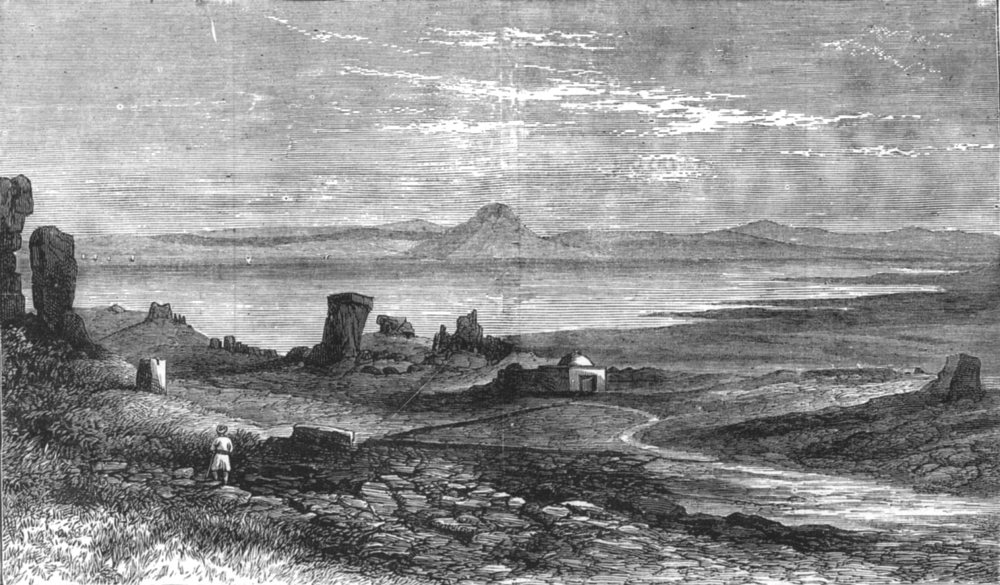 Associate Product TUNISIA. The Ruins of Carthage, three miles from Tunis, antique print, 1881