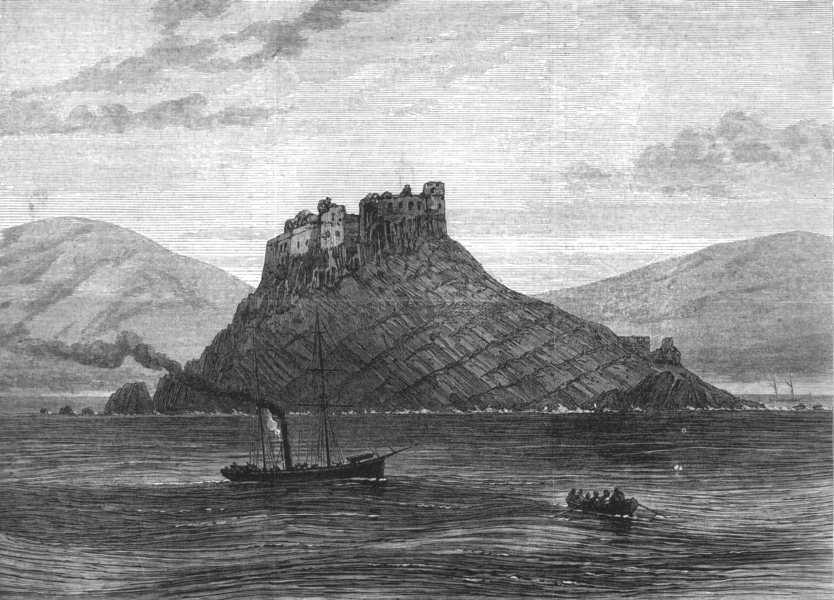 Associate Product TUNISIA. The French Expedition to Tunis. The Island and Fort of Tabarka, 1881