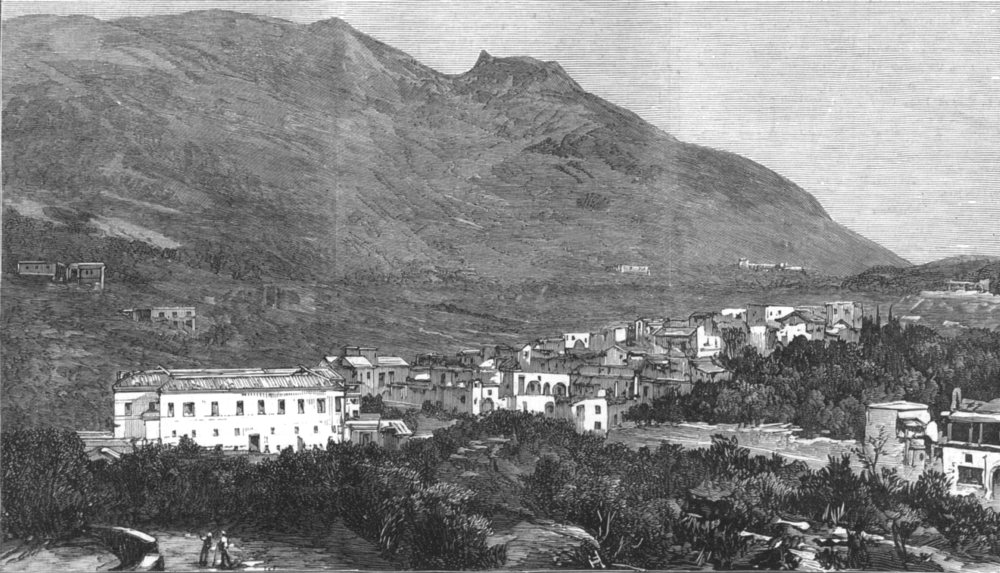 Associate Product ITALY. Casamicciola and Mount Epomeo,in the Island of Ischia,Bay of Naples, 1881