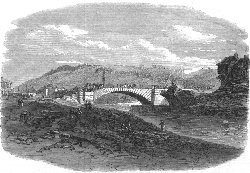 Associate Product SHEFFIELD. Sheffield floods. Hillsborough after the flood, antique print, 1864