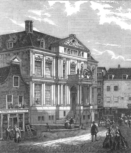 Associate Product NETHERLANDS. The Rotterdam Museum, lately destroyed by fire, antique print, 1864