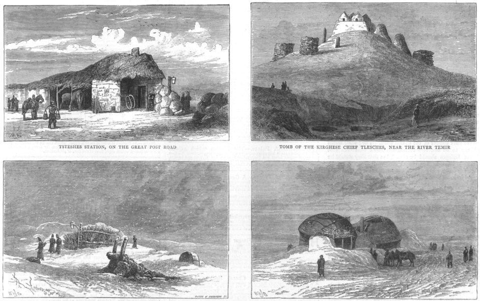 Associate Product RUSSIAN EXPEDITION KHIVA. Tsteshes;Tlesches,Temir;Dschilangatsch;Tschulack, 1873