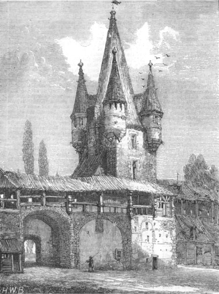 Associate Product GERMANY. Ancient walls of Augsburg, in course Demolition; Inside, print, 1873