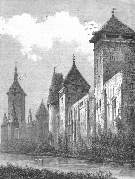 Associate Product GERMANY. Ancient walls of Augsburg, in course Demolition; Outside, print, 1873