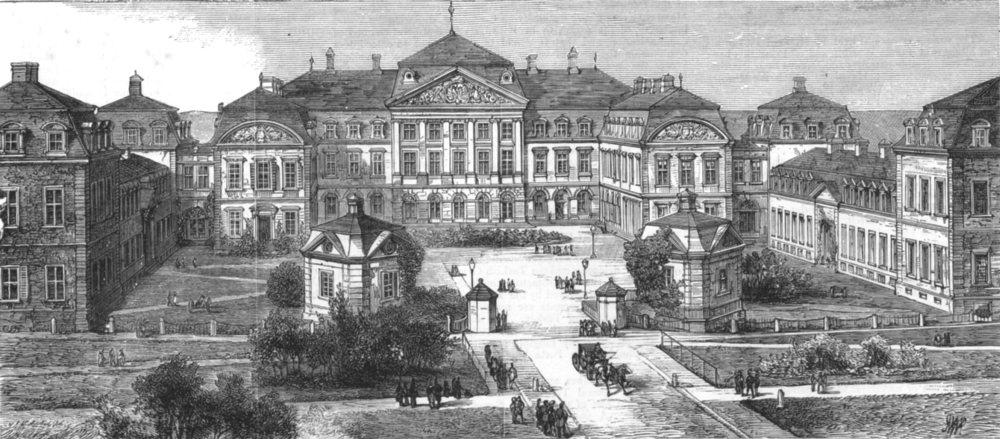 Associate Product GERMANY. Palace of Arolsen, House Prince & Princess Of Waldeck-Bad Pyrmont, 1881