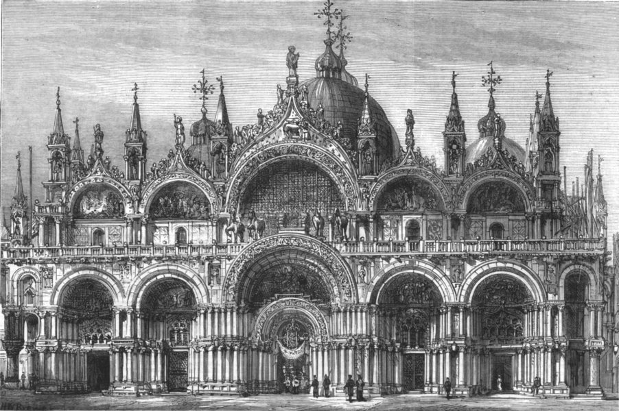 Associate Product VENICE. Church of St Mark; facade which is planned to pull down & rebuild, 1879