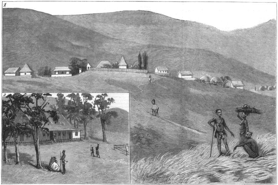 Associate Product S AFRICA.Cetshwayo kaMpande.Emangete,Dunn House,Zulu;St Andrew Mission Stn, 1883
