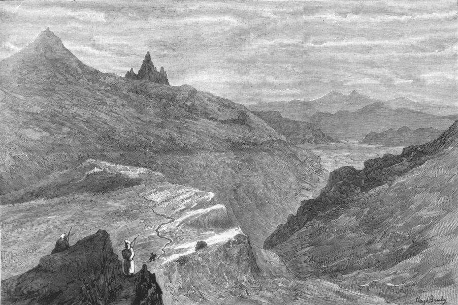 Associate Product AFGHANISTAN. Rebellion in-Shutargardan pass, towards Kabul, antique print, 1879