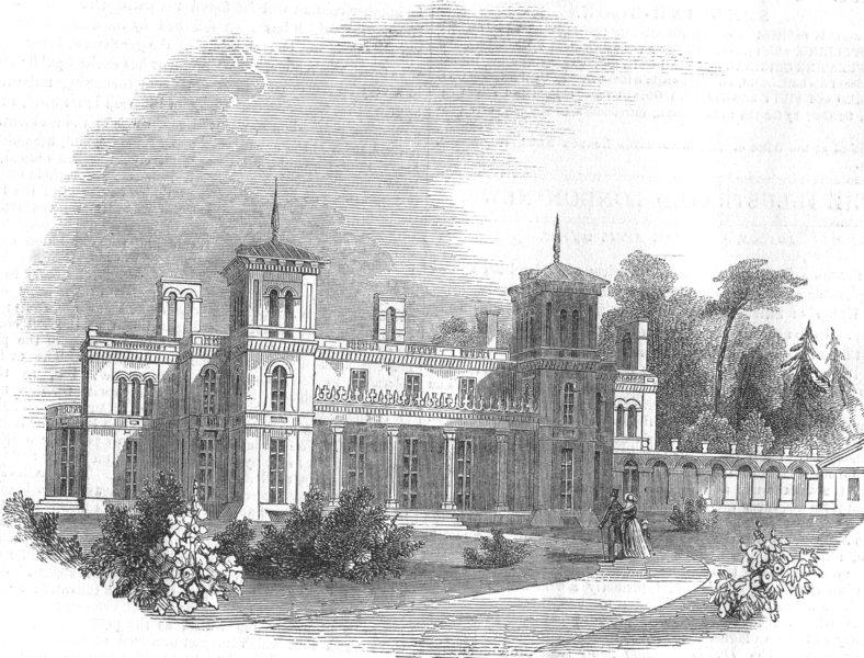 Associate Product SCOTLAND. Dundurn castle, Hamilton, Canada west, antique print, 1849