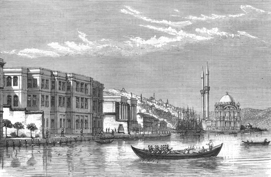 Associate Product TURKEY. Palace of Tcheragan, where the late Sultan committed Suicide, 1876