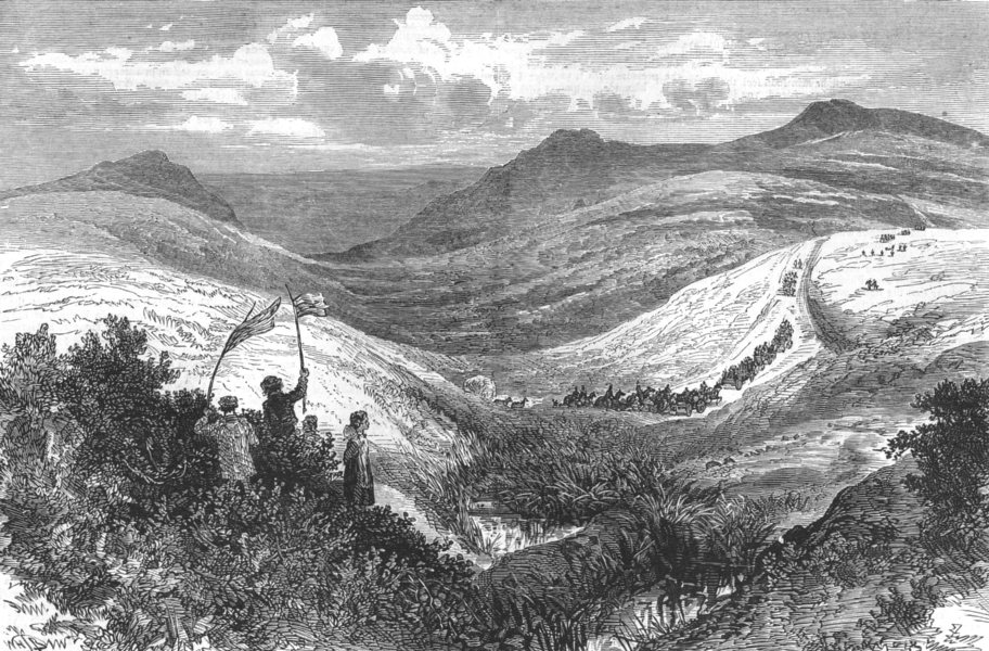 Associate Product DEVON. The Autumn Manceuvres. Road from Prince town to Horrabridge, print, 1873