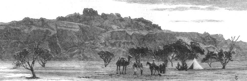 Associate Product INDIA. The Giant Vellar rock, Bellary, Chennai, antique print, 1882