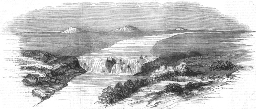 Associate Product NEW YORK. The American Falls of Lewis fork, antique print, 1846