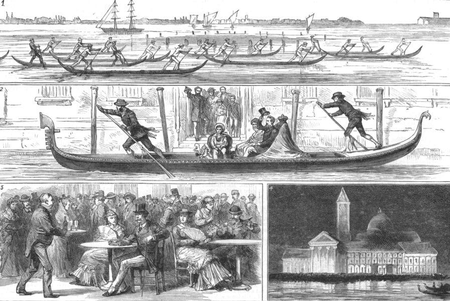 Associate Product VENICE. Regatta. Race Gondolettas;King's Gondola;St Mark's;4 George's Isle, 1881