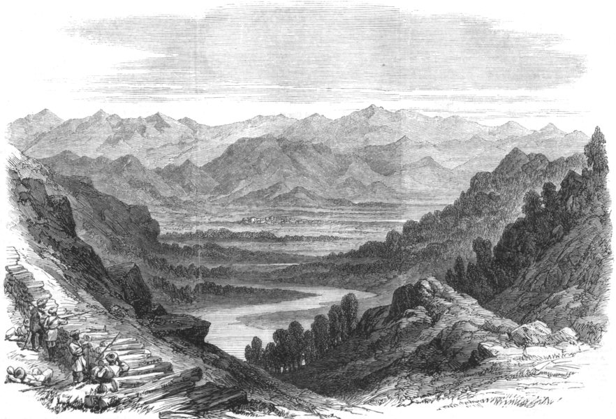 Associate Product INDIA. Expedition v Hill Tribes Punjab. Chumla valley Ambala Goroo Heights, 1864