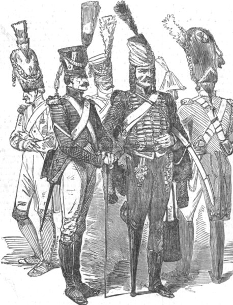 Associate Product MILITARIA. Old soldiers of the empire, antique print, 1852