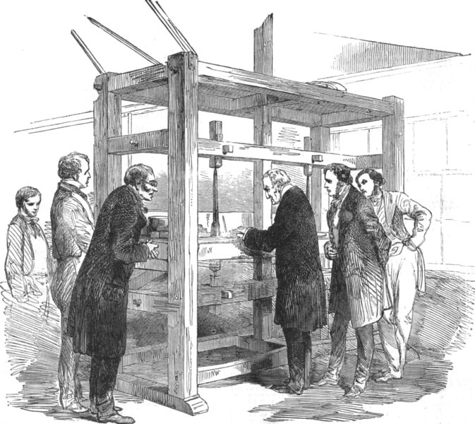 Re-cutting the Koh-i-noor Diamond, antique print, 1852