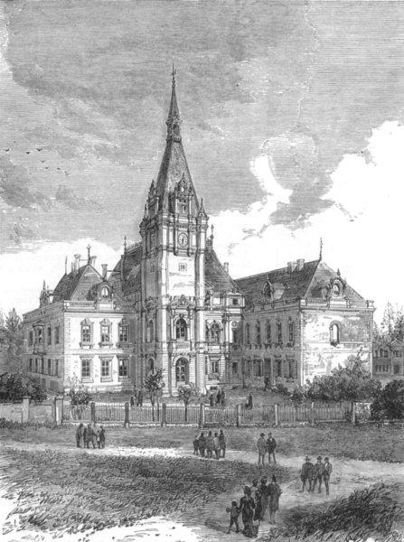 Associate Product GERMANY.Schloss Kleinzschocher, near Leipzig, residence of Baron Tauchnitz, 1882