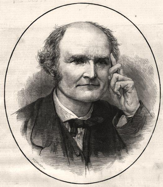 Associate Product Professor Cayley, President of the British Association. UK, antique print, 1883