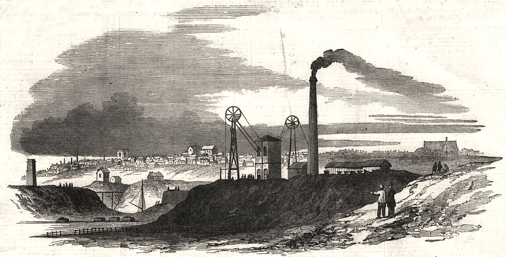 Associate Product Wigan colliery explosion. Arley pit of the Ince Hall Coal & Cannel company, 1853