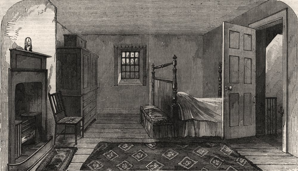 Associate Product The Burns Centenary - the room in which Burns died, at Dumfries. Scotland, 1859