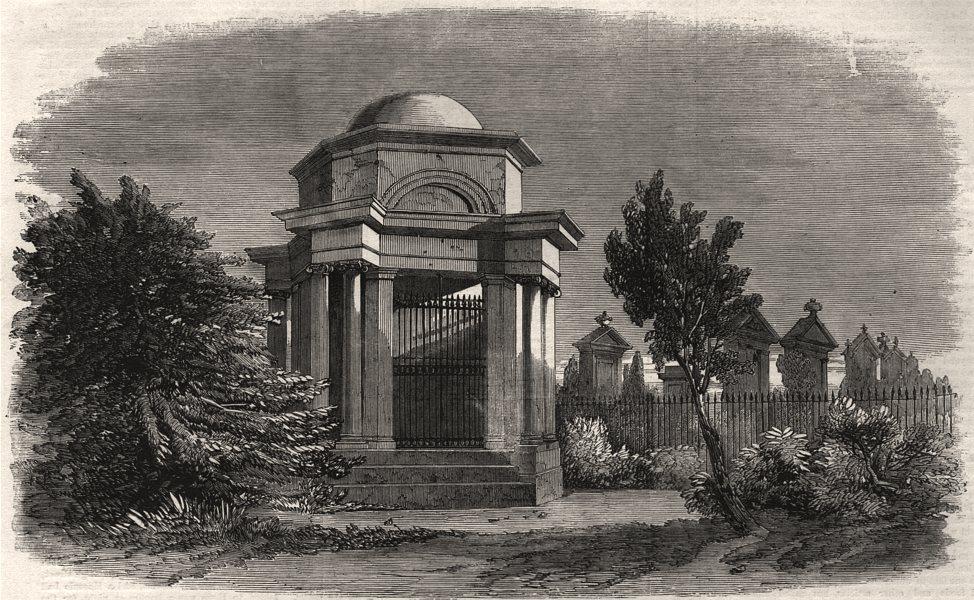 Associate Product The Burns Centenary. The Burns Mausoleum, Dumfries. Scotland, old print, 1859