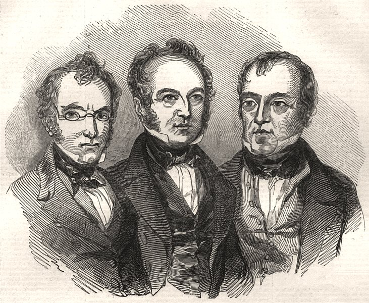 Associate Product The Burns Festival on the Banks of the Doon. Burns' three sons, old print, 1844