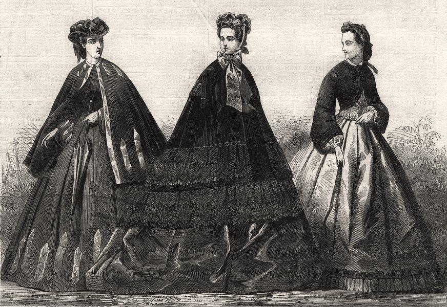 Associate Product Paris fashions for November, antique print, 1849