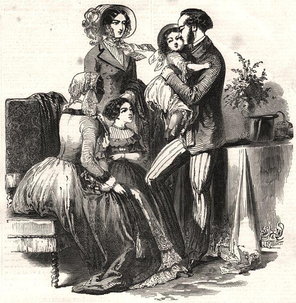 Associate Product Paris fashions for November 1849, antique print, 1849
