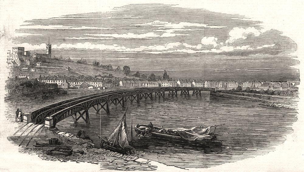 Associate Product River Lune Viaduct Lancaster North-Western Railway branch Poulton-Le-Sands, 1849