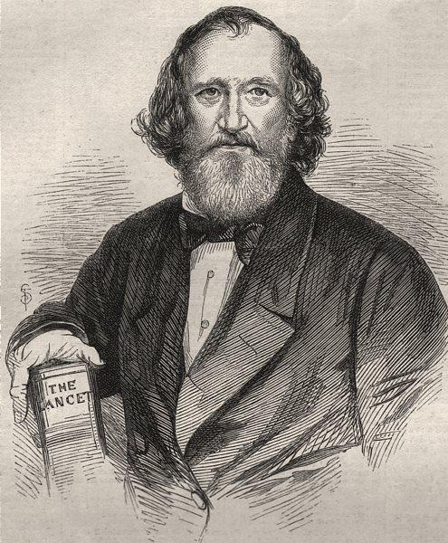 Associate Product The late Mr. Wakley. Medicine. The Lancet, antique print, 1862