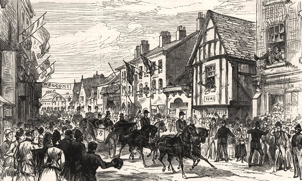 Associate Product The Prince and Princess Of Wales at Knutsford, near Manchester. Lancashire, 1887