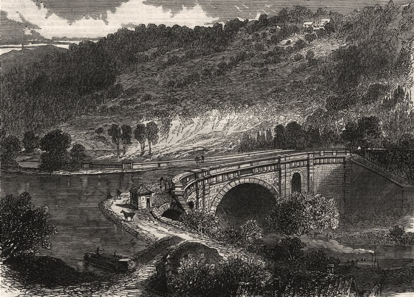 Associate Product Aqueduct of the Kennet & Avon canal, at Limpley Stoke, nr Bath. Wiltshire, 1864