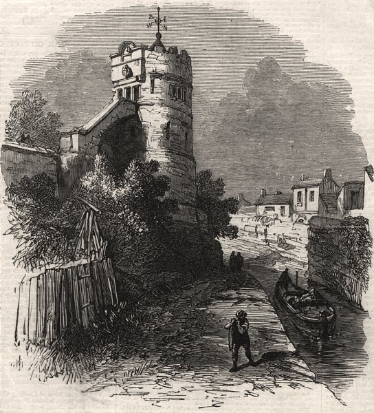 Associate Product The City of Chester. The Phoenix Tower on the city walls. Cheshire, print, 1869