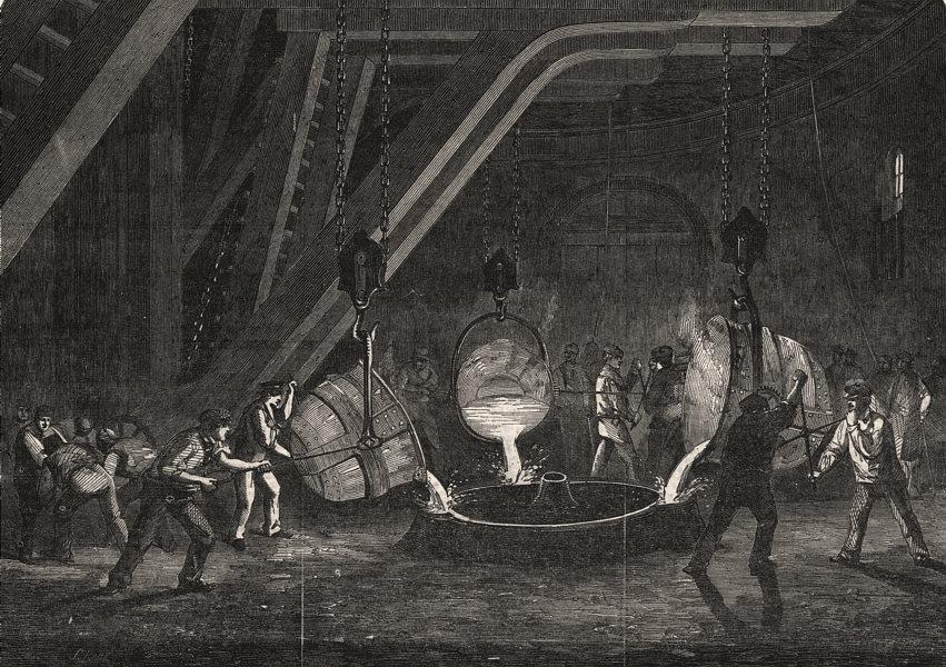 Associate Product Casting Britannia Press cylinder, Bank Quay foundry, Warrington. Cheshire, 1851