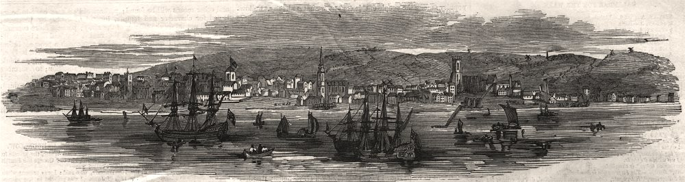 Associate Product Prince Albert's visit to Liverpool. Liverpool in 1728, antique print, 1846