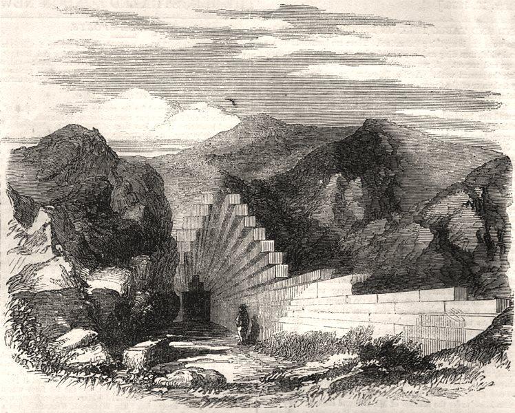 Associate Product Tumulus in the north-eastern peninsula of the Crimea. Ukraine, old print, 1856