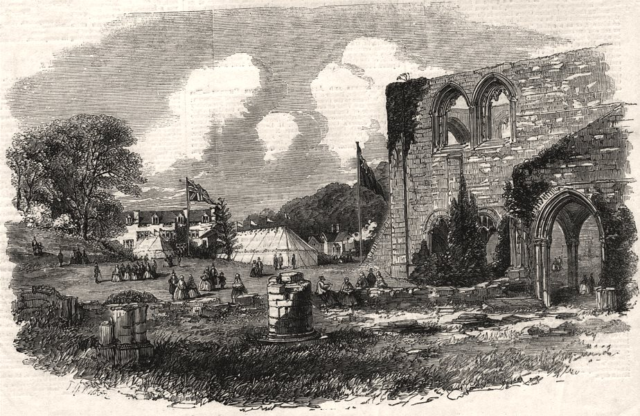 Associate Product Furness Abbey dejeuner for the Ulverstone & Lancaster Railway opening, 1857