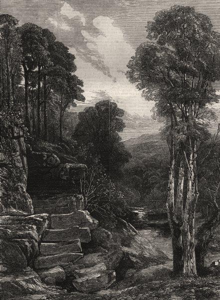 """Associate Product """"On the Greta"""". Cumbria, antique print, 1869"""