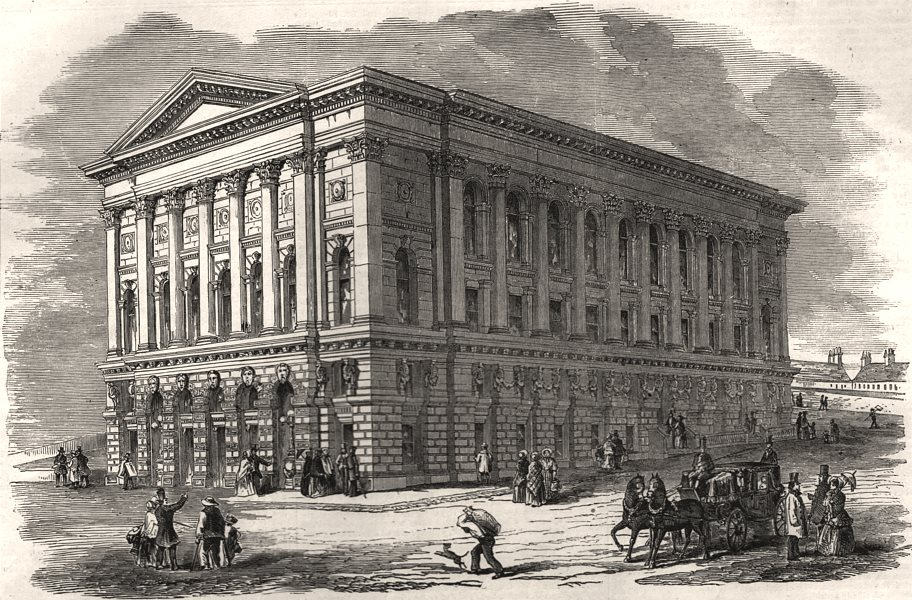 Associate Product St. George's Hall, Bradford, opened with a musical festival. Yorkshire, 1853