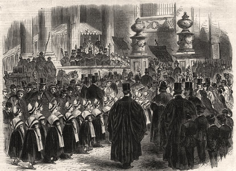 Associate Product Annual festival of charity children in St. Paul's Cathedral, London, print, 1866