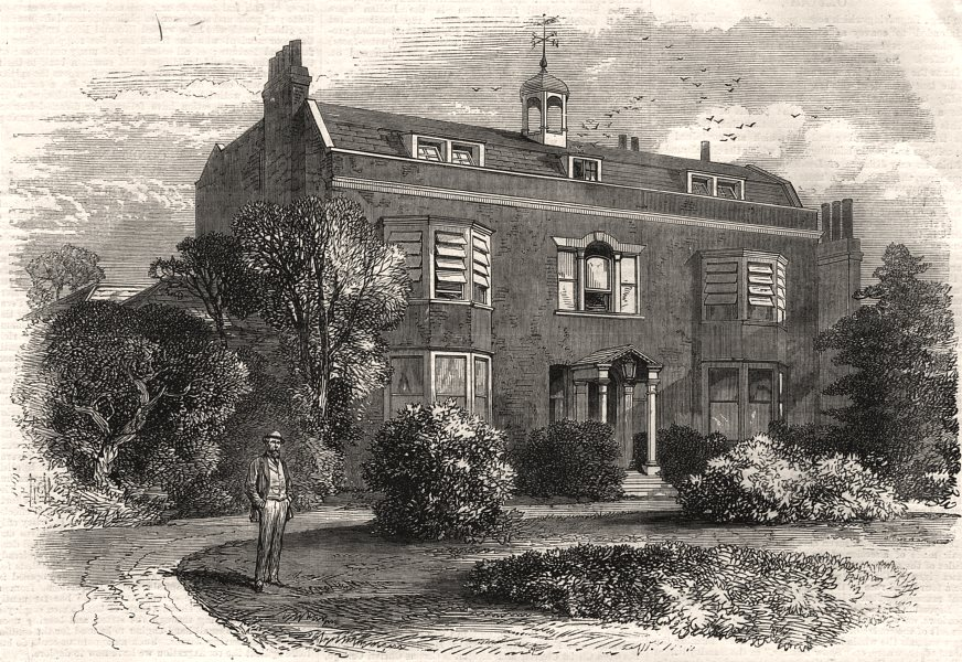 Associate Product Gad's Hill Place, near Rochester, the home of Charles Dickens. Kent, print, 1870
