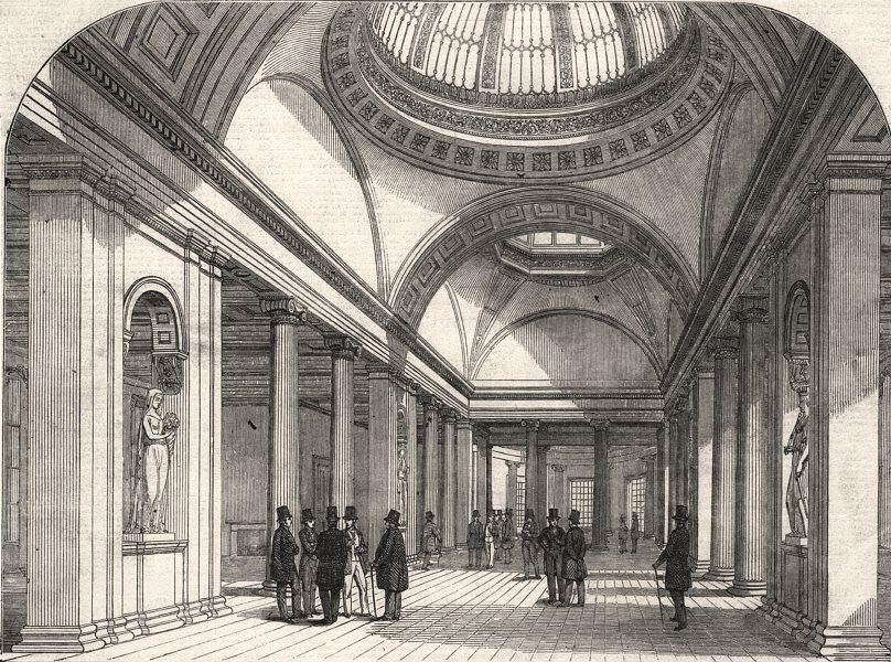 Associate Product The New Exchange, Manchester & Interior. Lancashire, antique print, 1849