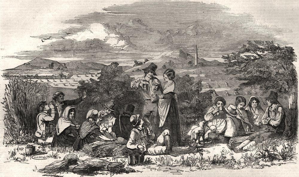 Associate Product Harvest in Kilkenny. Ireland, antique print, 1852