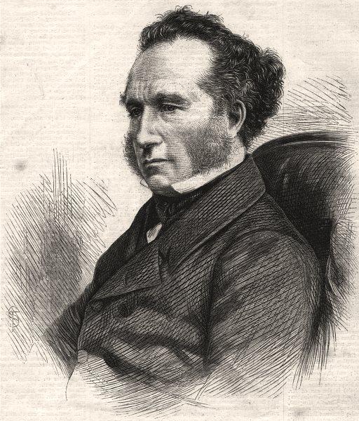 Associate Product The late Mr. Tidd Pratt. Portraits, antique print, 1870