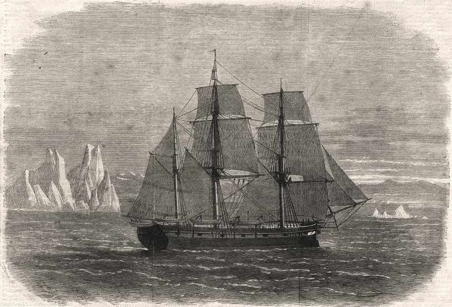 Associate Product The Truelove, of Hull, the last of the sailing whalers. Yorkshire, print, 1870