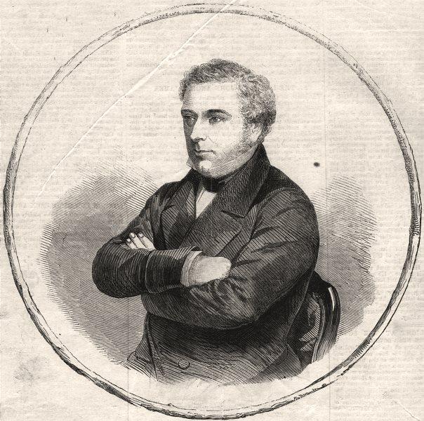 Associate Product The late Mr. Robert Stephenson, M. P. Civil Engineer. Portraits, old print, 1869